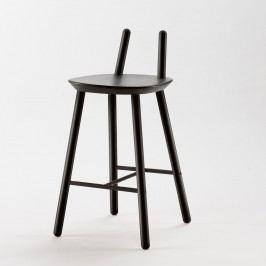 Černá  barová židle z masivu EMKO Naïve