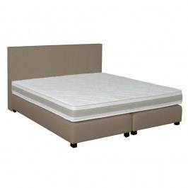 Šedo-béžová boxspring postel Revor Deco,140x200cm