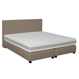Šedo-béžová boxspring postel Revor Deco,160x200cm