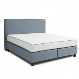 Modrá boxspring postel Revor Milano,200x200cm
