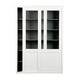Bílá dřevěná skříň s pojízdnými dveřmi De Eekhoorn Vince