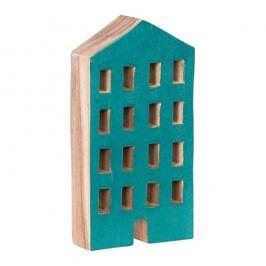 Modrý dřevěný dekorativní domeček House