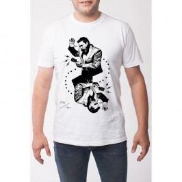 Pánské tričko s krátkým rukávem KlokArt Srdcovka, vel. L