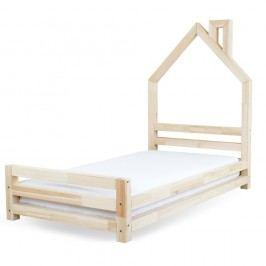 Dětská postel z přírodního borovicového dřeva Benlemi Wally,80x160cm