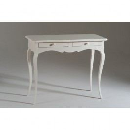 Bílý dřevěný konzolový stolek se 2 zásuvkami Castagnetti Firenze