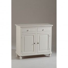 Bílá dřevěná dvoudveřová komoda se 2 zásuvkami Castagnetti Firenze