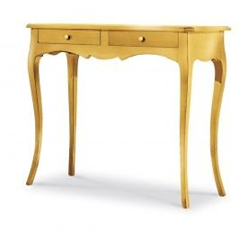 Dřevěný konzolový stolek ve zlaté barvě Castagnetti