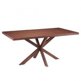 Jídelní stůl v dekoru ořechového dřeva sømcasa Dina, 180x90cm