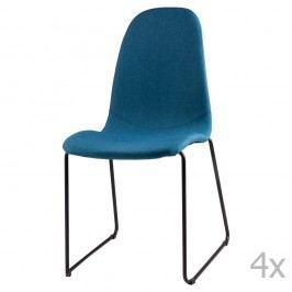 Sada 4 tmavě modrých  jídelních židlí sømcasa Helena