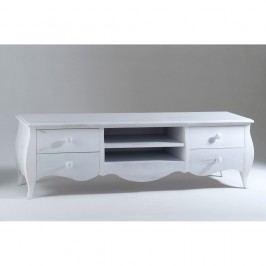 Bílý dřevěný TV stolek Castagnetti Adeline