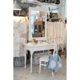 Bílý dřevěný stolek Castagnetti Nadine