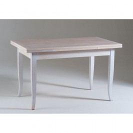 Bílý dřevěný rozkládací jídelní stůl Castagnetti Justine, 120x80cm