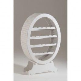 Bílá dřevěná vinotéka Castagnetti Oval