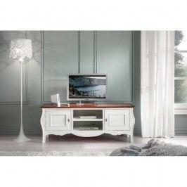 Bílý dřevěný TV Castagnetti Annata