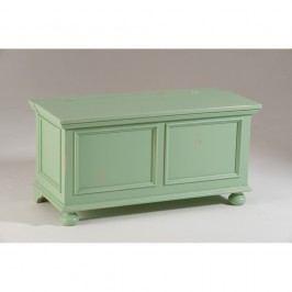 Zelená dřevěná truhla Castagnetti Chest