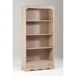 Krémová dřevěná knihovna se zásuvkou Castagnetti Caroline