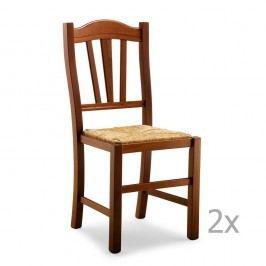 Sada 2 dřevěných jídelních židlí Castagnetti Classico