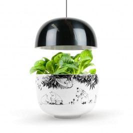 Domácí inteligentní černo-bílá zahrádka Plantui Moomin Smart Garden Black