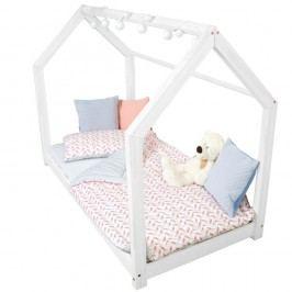 Dětská bílá postel s vyvýšenými nohami a bočnicemi Benlemi Tery, 70x140cm,výška nohou20cm