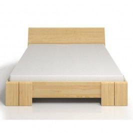 Dvoulůžková postel z borovicového dřeva s úložným prostorem SKANDICA Vestre Maxi, 140x200cm