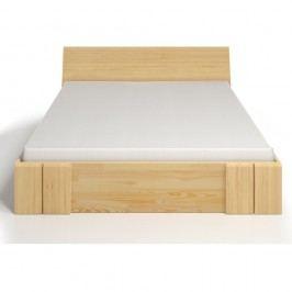 Dvoulůžková postel z borovicového dřeva se zásuvkou SKANDICA Vestre Maxi, 140x200cm