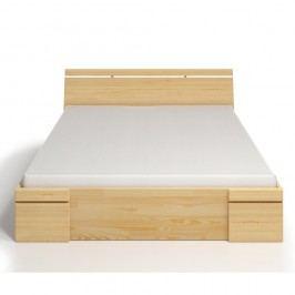 Dvoulůžková postel z borovicového dřeva se zásuvkou SKANDICA Sparta Maxi, 180x200cm