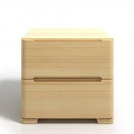 Noční stolek z borovicového dřeva se 2 zásuvkami SKANDICA Sparta