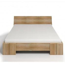 Dvoulůžková postel z bukového dřeva s úložným prostorem SKANDICA Vestre Maxi, 160x200cm