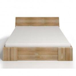 Dvoulůžková postel z bukového dřeva se zásuvkou SKANDICA Vestre Maxi, 200x200cm Dvoulůžkové postele
