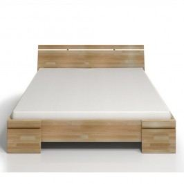 Dvoulůžková postel z bukového dřeva s úložným prostorem SKANDICA Sparta Maxi, 140x200cm