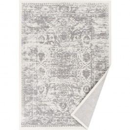 Bílý vzorovaný oboustranný koberec Narma Palmse, 140x200cm