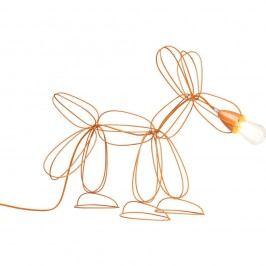Oranžová stojací lampa Kare Design Dog