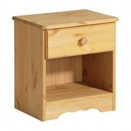 Noční stolek z masivního borovicového dřeva Støraa Amanda