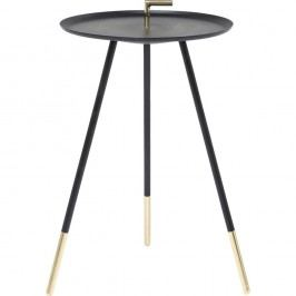 Černý odkládací stolek Kare Design Trampolo, ⌀38cm