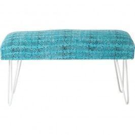 Modro-bílá lavice Kare Design Izzy, 80cm