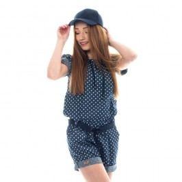 Modrý bavlněný overal Lull Loungewear Overy Blum, vel.M