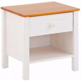 Bílý noční stolek z borovicového dřeva Støraa Pauline