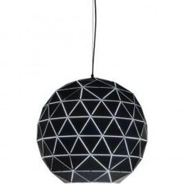 Černé stropní svítidlo Kare Design Triangle, Ø60cm