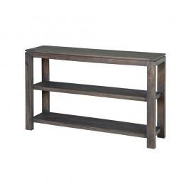 Konzolový stolek  z masivního šedě mořeného akáciového dřeva Zara Simple