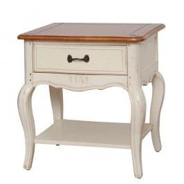 Krémový noční stolek z březového dřeva Livin Hill Verona