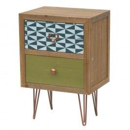 Příruční stolek z jedlového dřeva se zásuvkami Livin Hill Portofino
