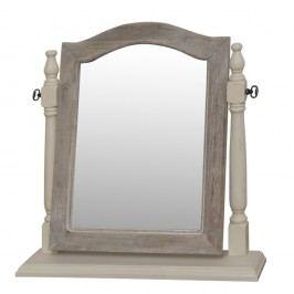 Stolní zrcadlo v krémovém rámu z topolového dřeva Livin Hill Pesaro