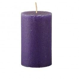 Fialová svíčka KJ Collection Konic, ⌀6x10cm