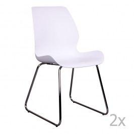 Sada 2 bílých židlí House Nordic Sola