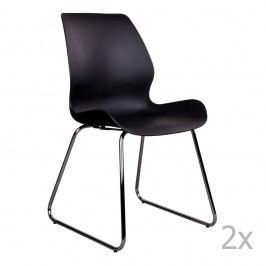 Sada 2 černých židlí House Nordic Sola