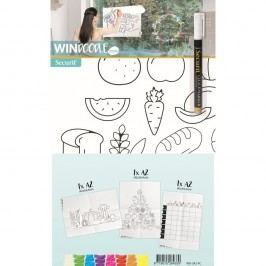 Set 3 šablon ve formátu A2 a popisovače na okno Securit Food Chart