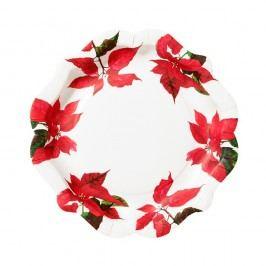 Sada 12 papírových talířů Talking Tables Botanical Vánoční dekorace
