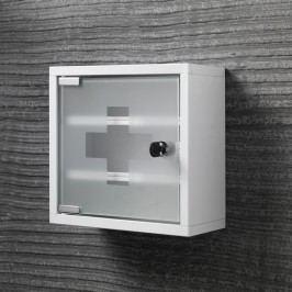 Bílá nástěnná skříňka na léky Tomasucci First Aid