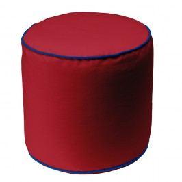 Červený puf 13Casa Bicolor Cylindre