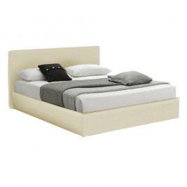 Béžová dvoulůžková postel s úložným prostorem 13Casa Ninfea, 160x190cm